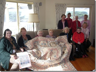 World Vison Ladies with raffle quilt