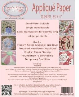 applique paper cover sheets