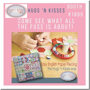 Hear all about it! Easy English Paper piecing, the Hugs 'n Kisses way