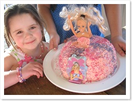 Matilda May and her barbie cake