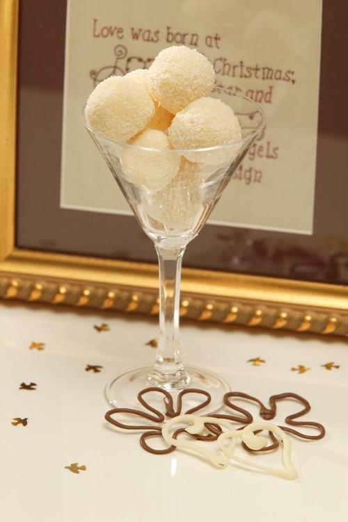 Macadamia nut White Chocolate Truffles