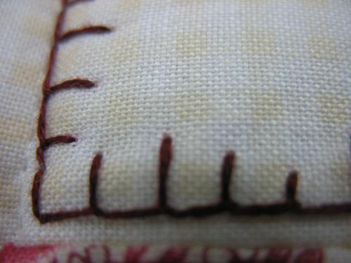 Blanket stitch edges